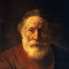 Portrait of an Old Man in Red by Rembrandt Harmensz van Rijn (detail) Rembrandt Portrait, Rembrandt Paintings, Francisco Goya, Baroque Art, Dutch Painters, Dutch Artists, Chiaroscuro, Classical Art, Leiden