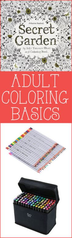 Adult Coloring Basics ~ Coloring for grownups is all the rage right now! Want to dive in, but not sure how? Here are a few things to help get you started!   #Ad