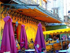 Cafe Van Gogh, Arles, France by stephencurtin, via Flickr