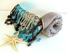 Handwoven Peshtemal Towel NATURAL Cotton Eco Friendly by loovee, $29.00