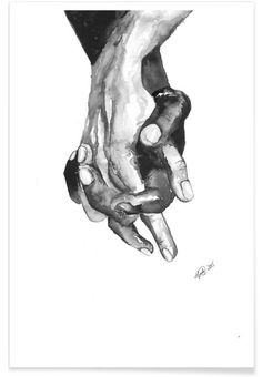 I am a Friend als Premium Poster door Larissa van der Laan | JUNIQE