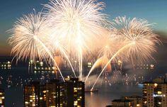 Vancouver British Columbia. Fireworks.