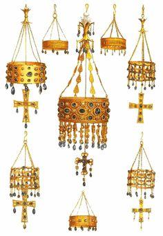 Coronas votivas pertenecientes al tesoro de Guarrazar (Toledo)