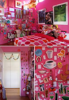 this type of magnetic wall would be super fun in my daughters room!