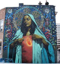 Massive Street Art Mural in Salt Lake City Murals Street Art, 3d Street Art, Amazing Street Art, Street Art Graffiti, Street Artists, Amazing Art, Awesome, Mural Painting, Mural Art