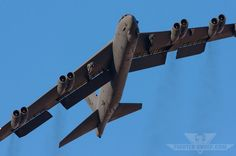A Boeing B-52H Stratofortress departs Nellis Air Force Base