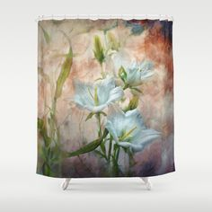 Campanula on the Wild Side Shower Curtain by Teresa Pople - $68.00