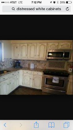 Cabinet Idea Distressed Kitchen Cabinetscream