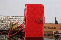 Chanel Samsung Galaxy S5 i9600 Book Wallet Case Red Free Shipping - Deluxeiphonecase.com