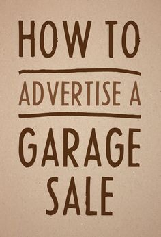 Garage sale ads that attract buyers