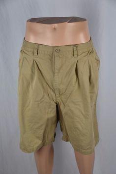65/% polyester Sz 44 NWT Men/'s Big Fit America Khaki pleated casual shorts