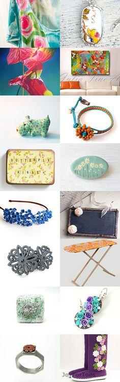 Shop Unique - Shop with Integrity - handmade floral Etsy finds in November by BoulotDodo on Etsy--Pinned with TreasuryPin.com