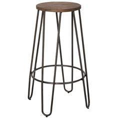 Industrial chic is at its finest with this fabulous stool. The welded metal frame and solid elm wood seat not only provide sturdy support, but also combine to create a look that will have your guests raving about your décor choices.