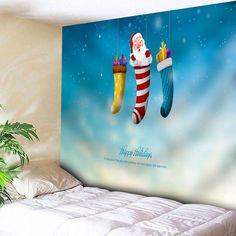 Santa Claus Christmas Socks Wall Tapestry , #SPONSORED, #Christmas, #Claus, #Santa, #Tapestry, #Wall #affiliate Tree Wall Art, Tapestry Wall Hanging, Blue Hosta, Christmas Wall Art, Christmas Sale, Tapestry Online, Christmas Material, Santa Socks, Romantic Themes