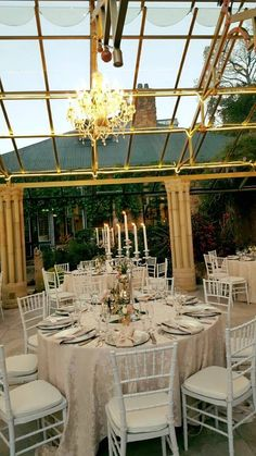 #ShepstoneGardens #tablesetting Our Wedding, Table Settings, Chandelier, Ceiling Lights, Table Decorations, Lighting, Tables, Gardens, Furniture