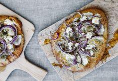 Hjemmebagt pizza med jordskokker og gedeost - BO BEDRE
