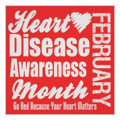 Go Red for Women Poster | Go Red Heart Disease Awareness Month Posters