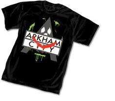 Batman Arkham City Joker T-Shirt Joker T Shirt, Online Comic Books, Batman Arkham City, Sin City, Mens Tops, Symbols, Shirts, Shopping, Clothes