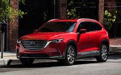 Descargar fondos de pantalla Mazda CX-9, 2017, rojo CX-9, nuevos coches, SUV de lujo, los coches Japoneses, Mazda