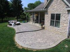 Stamped concrete driveways, patios, walkways,pool deck and porches | King Concrete Increte