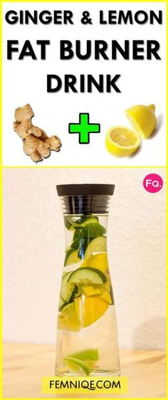 Belly Fat Burner Workout - How To Use Ginger For Weight Loss (Fat Burning Drink) - You can use ginger for weight loss AKA fat burner. This detox drink will help you to lose weight fast safely! Fat Burner Drinks, Fat Burning Detox Drinks, Fat Burner Smoothie, Belly Fat Burner Drink, Weight Loss Drinks, Weight Loss Smoothies, Detox Cleanse For Weight Loss, Diet Detox, Cleanse Diet