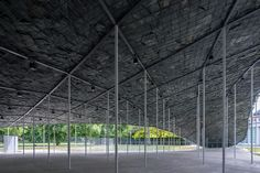 World Architecture Community News - Junya Ishigami reveals cave-like Serpentine Pavilion with dramatic craggy roof in Kensington Gardens Architecture Durable, Parametric Architecture, Pavilion Architecture, Concept Architecture, Sustainable Architecture, Landscape Architecture, Architecture Design, Landscape Design, Kensington Gardens