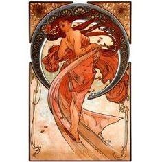 Alphonse Mucha - Autumn Dance Fairy