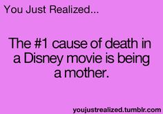 "Seriously--""Disney: Where you only get your happily ever after if you're an orphan"". I'm getting really sick of this."