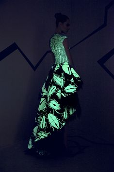What to do if you're afraid of bugs? If you're Rami Kadi, you cover your couture in them and then make them glow like fireflies. [Photo: Courtesy]