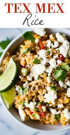 Tex Mex Rice! This EASY to make brown rice recipe is loaded with bits ...