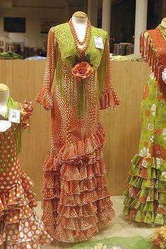 Flamenco dresses, Seville, Spain shop window