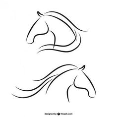 horse-heads-outlines-free-vector-1908.jpg (626×626)