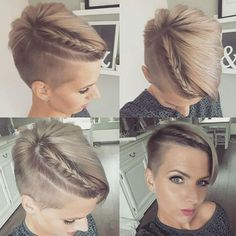 100 Best Short hairstyles – Chicest Short Haircuts For Short Hair 2019 Accenting Waterfall Braid —- There is one of the easiest ways to add a touch of femininity to your hairstyle is to intertwine a small braid to your mane directly, and this can even Prom Hairstyles For Short Hair, Choppy Bob Hairstyles, Braided Hairstyles, Cool Hairstyles, Hairstyles 2018, Small Braids, Braids For Short Hair, Short Hair Cuts, Short Hair Styles
