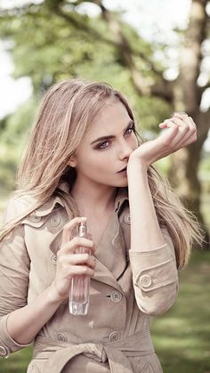 Cara Delevingne discovering the new Burberry Body Tender fragrance
