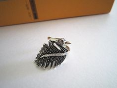 Creative Retro silver swan ringbest gift to you or your by Viviens