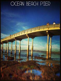So pretty! Ocean Beach Pier in San Diego, CA.