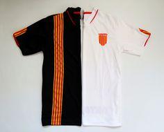 Catalonia home/away football shirt by Maracay Sport #catalonia #catalunya #spain #footballshirt #soccerjersey #white #black #vintage #jersey