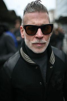Nick Wooster, Men's Fall/Winter Street Style Fashion.