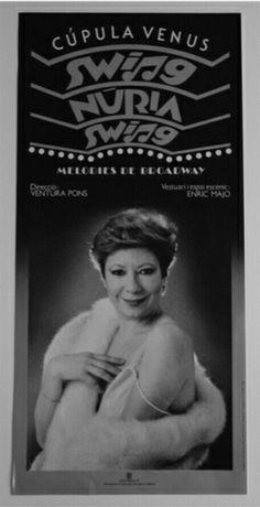 "Núria Feliu a l'espectacle ""Swing Núria Swing"""