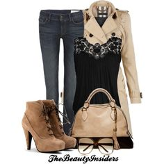 Beautiful classic  winter outfit .