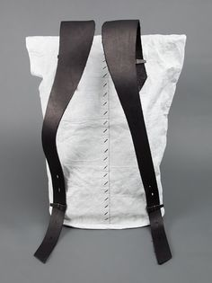 Tyvek and Leather Rucksack.  Super Minimalistic