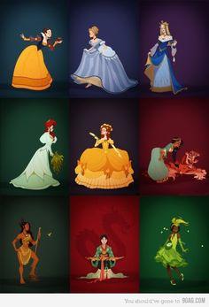 Disney princesses in historical costumes (era movies were set in) Disney Dream, Disney Love, Disney Magic, Disney Art, Disney Stuff, Disney And Dreamworks, Disney Pixar, Walt Disney, Disney Characters