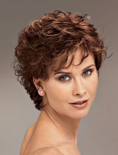 Hairstyle Short Curly Hair Women Over 40 Short Curly Hairstyles For Women, Permed Hairstyles, Short Hair Cuts For Women, Curly Short, Short Haircuts, Layered Haircuts, Short Pixie, Fashion Hairstyles, Curly Bob