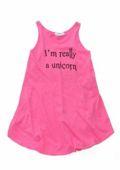 Make a statement in this I'm really a unicorn WildFox Kids Couture dress. Unicorn Dress, Vintage Inspired Outfits, Tween Girls, Couture Dresses, Wildfox, Looks Great, Athletic Tank Tops, Kids Fashion, Cool Outfits
