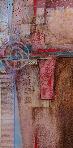 Collage art of Laura Lein-Svencner: Abstract Landscape process