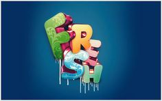Here is a list of 10 Photoshop text effects. Each one of these Photoshop text effects comes with tutorials so you can learn to make them yourself. Photoshop Tutorial, 3d Text Photoshop, Effects Photoshop, Photoshop Illustrator, Illustrator Tutorials, Photoshop Elements, Photoshop Actions, Lightroom, Photoshop Lessons