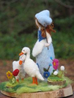Nadel Gefilzte Goosegirl Waldorf inspiriert von Made4uByMagic