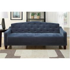 A&J Homes Studio Epson Adjustable Sleeper Sofa Upholstery: Navy