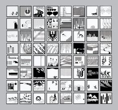 The monochrome graphic system that the late Otl Aicher created for the German town of Isny im Allgäu features in an exhibition at the London Design Festival Graphic Design Print, Graphic Design Inspiration, Graphic Prints, Graphic Designers, Otl Aicher, Photography Cheat Sheets, London Design Festival, Communication Design, Wassily Kandinsky