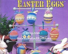 ************** Instant download Crochet Pattern PDF - 1046 ************* Crochet Pattern for Easter Eggs, Easter Basket and Nut Cups. Requires bedspread-weight / size 10 crochet thread. YOU WILL RECEIVE A PDF file of the original pattern. NOT the finished items or an original pattern. (It will not arrive in the post). You will receive an email immediately following your confirmed payment, which will include your download link.